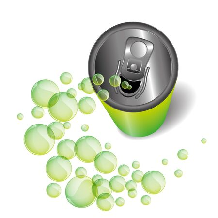 energy drink: Green can