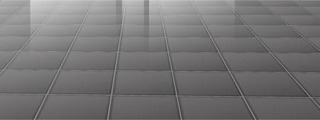 shiny floor: Grey tiling