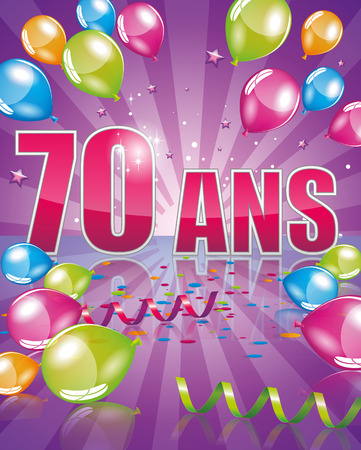 adult birthday party: 70 years Illustration