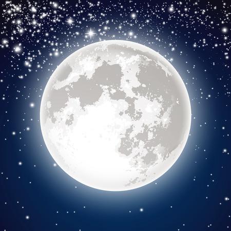 Pleine lune Banque d'images - 44735675