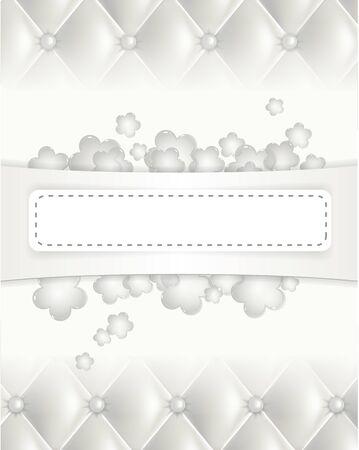 padded: White texture background Illustration