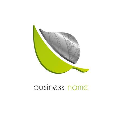 logos de empresas: Hoja logo