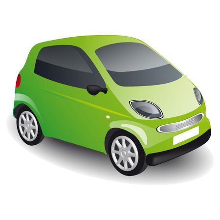 because: Green car