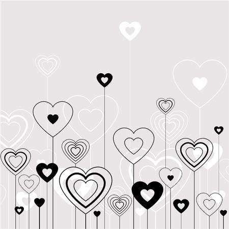 wedding backdrop: Hearts background