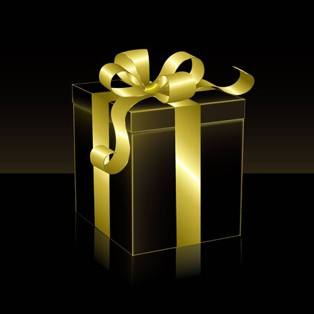 understated: Black and gold gift