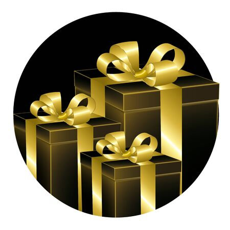 understated: Black and gold gifts Illustration