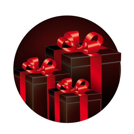 understated: Black and red gifts Illustration