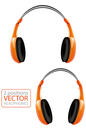 Orange headphones Illustration