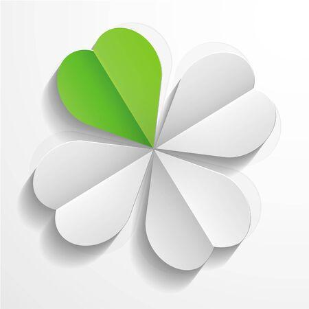 fourleaf: Paper clover Illustration
