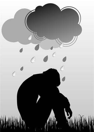 depression: Sad man