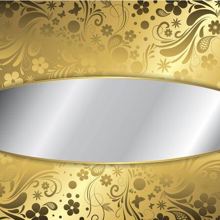 gilding: Gold texture art Illustration