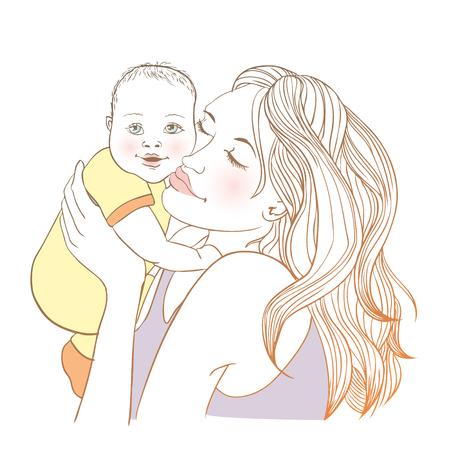 hapiness: Cute Baby and mum