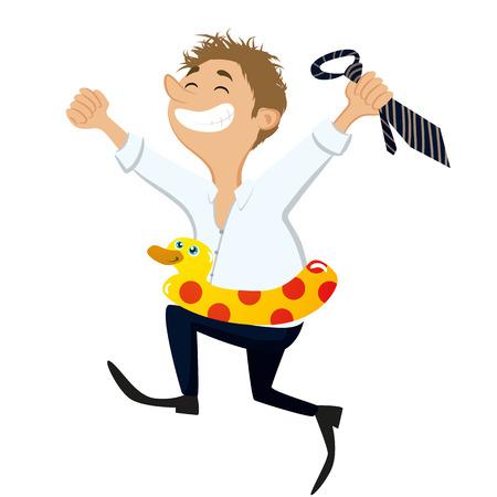 renuncia: Hombre feliz vacaciones