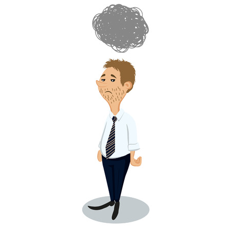 licensed: Sad businessman Illustration