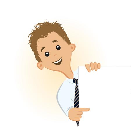 showing: Businessman showing something