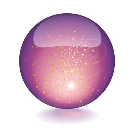 sphere: Purple sphere Illustration
