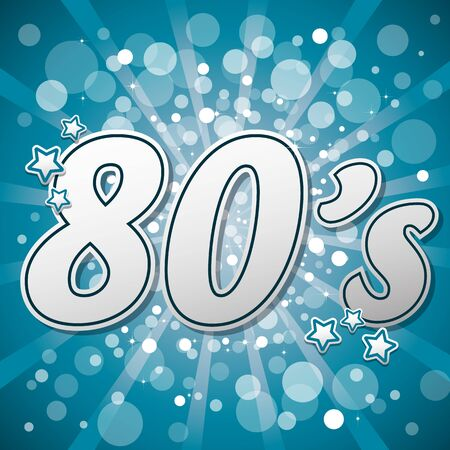 themed: Blue 80s