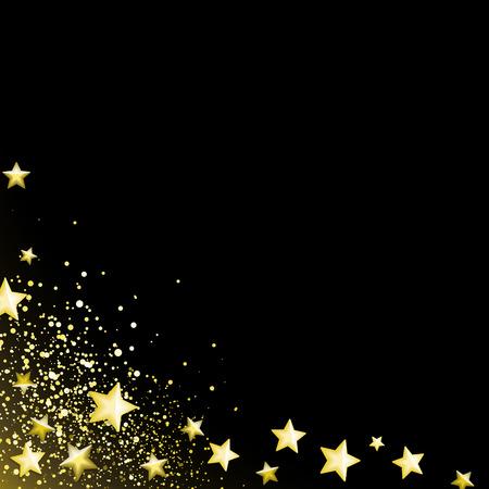 Estrellas de oro de fondo