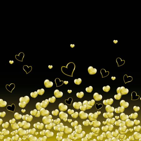 hearts background: Gold hearts background