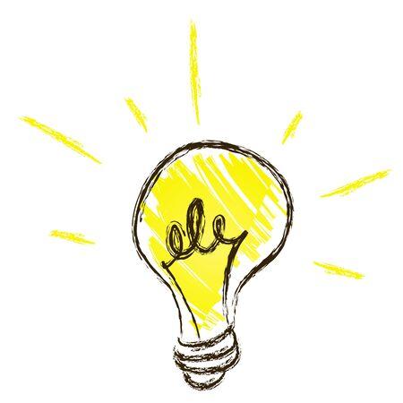 line drawings: Cartoon Bulb