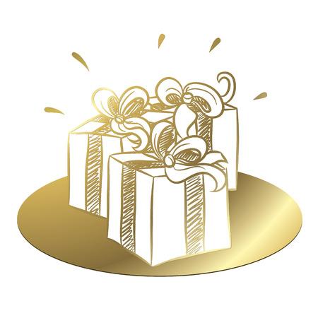 Cadeaux d'or Banque d'images - 44860825