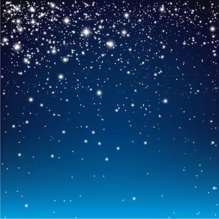 afterglow: Night starry sky