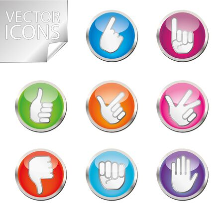 two thumbs up: Hands icons