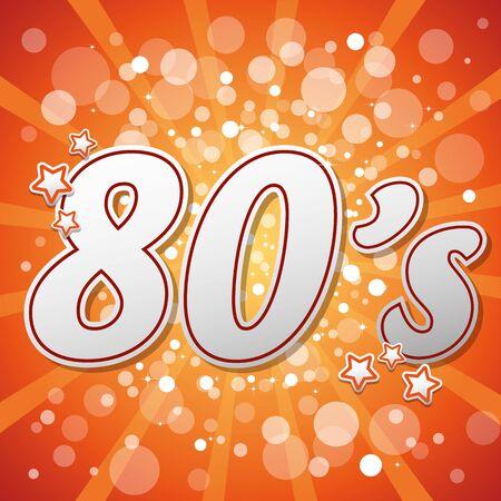 80's: Orange 80s Illustration