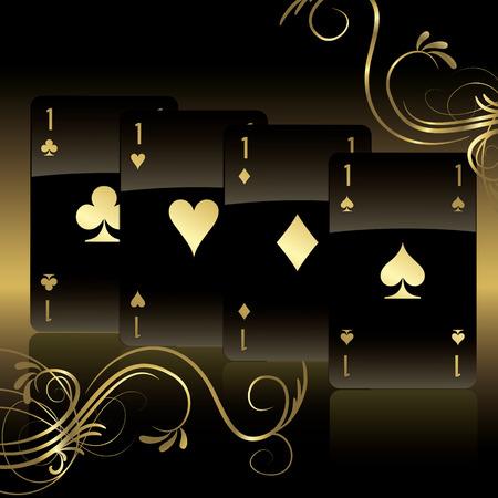 vegas: Black background cards
