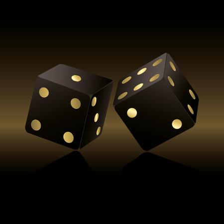 dices: Black dices Illustration