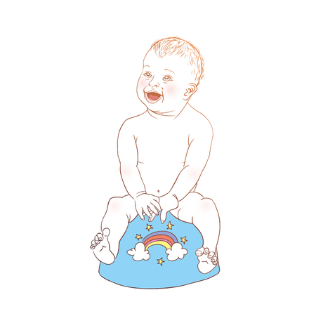 Baby on the potty
