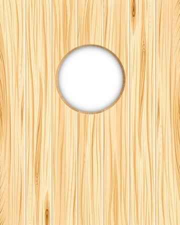 drilled: Wood texture hole Illustration