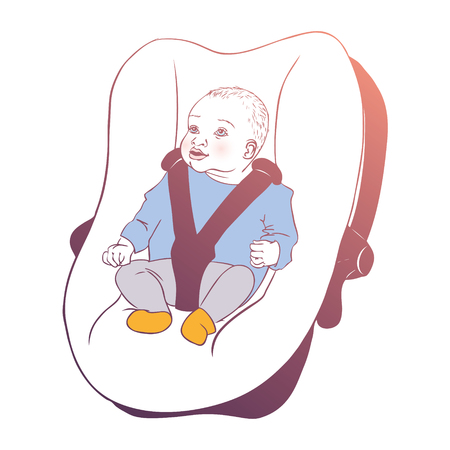 car seat: Baby in a car seat