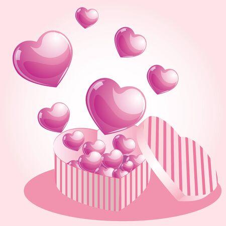 pink hearts: Pink hearts box