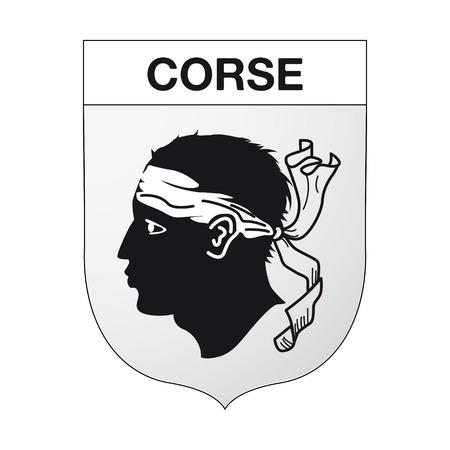 Emblème corse Banque d'images - 44861919