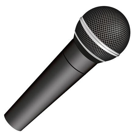 microfono de radio: Micr�fono vectorial Vectores