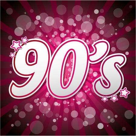 funk: Pink 90s Illustration