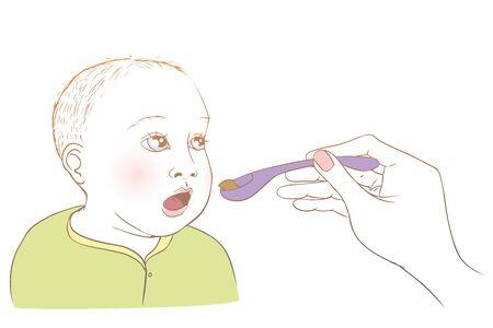 Baby essen Standard-Bild - 44862038