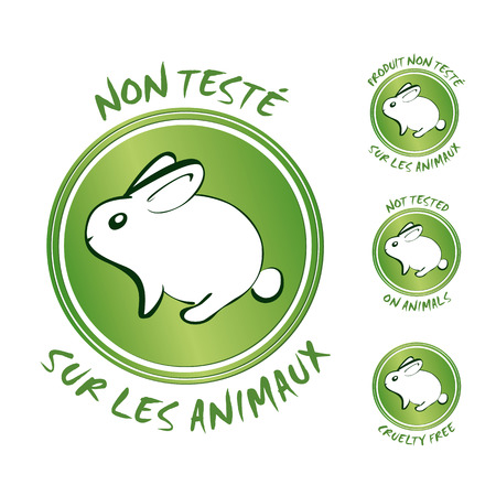 Not tested on animals Vectores