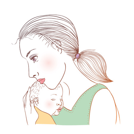 depression: Mum and baby