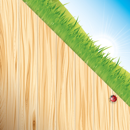 wood craft: Wood and grass Illustration