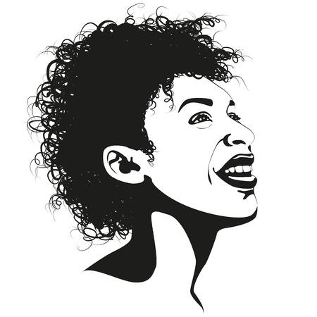 mixed race girl: Afro girl