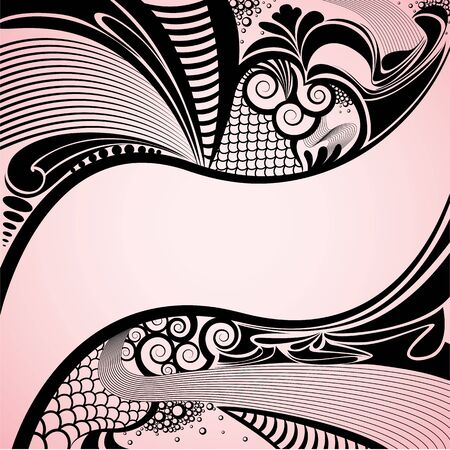 artistic nude: Abstract background Illustration