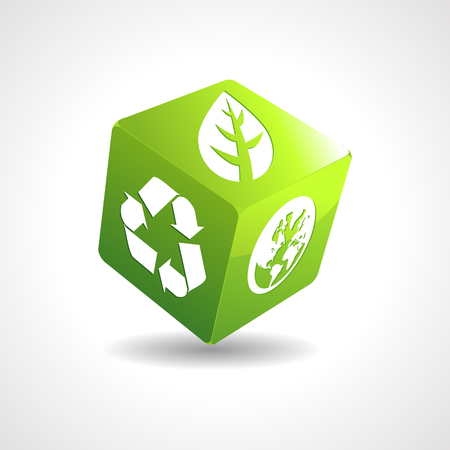 recycles: Eco cube Illustration