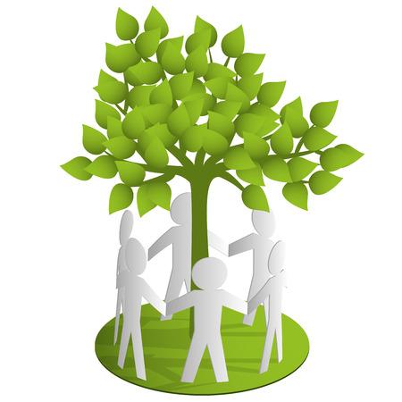 recycles: Around the tree