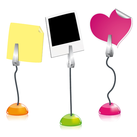 postit: Vector picture holders