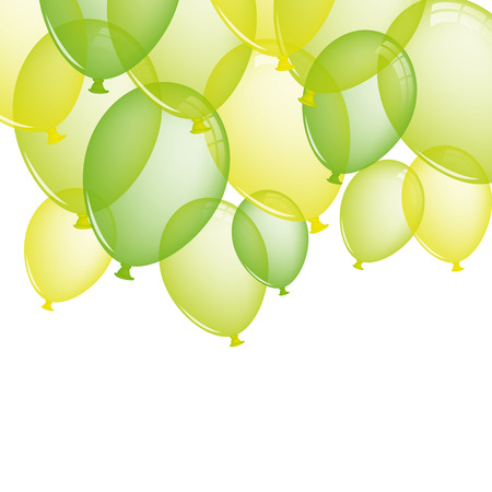 green balloons: Green balloons Illustration