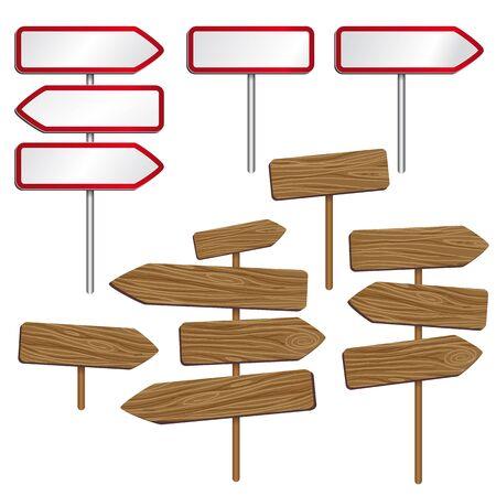 indicator board: Road signs Illustration
