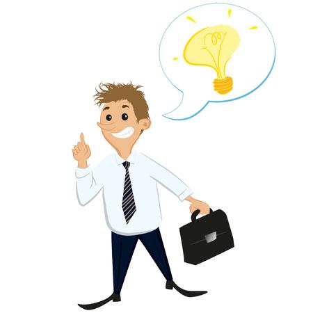tilt: Businessman idea Illustration