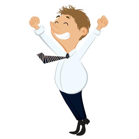 happy: Happy businessman